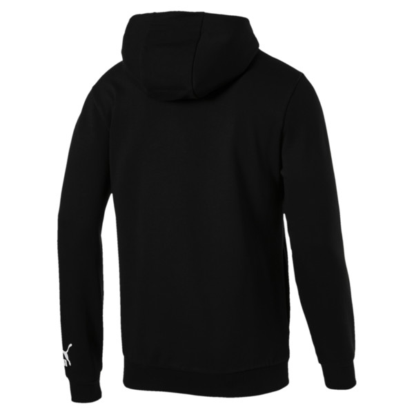 Men's Loud Full Zip Hoodie, Cotton Black, large