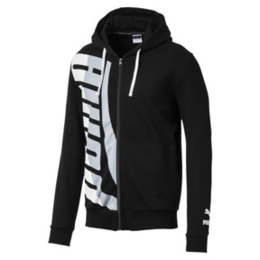Thumbnail 1 of Men's Loud Full Zip Hoodie, Cotton Black, medium