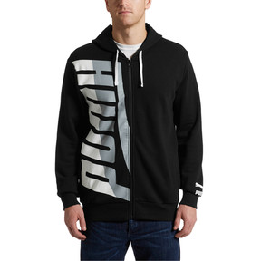 Thumbnail 2 of Men's Loud Full Zip Hoodie, Cotton Black, medium