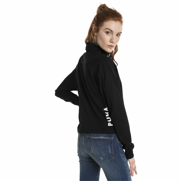 Chase Long Sleeve Women's Top, Cotton Black, large