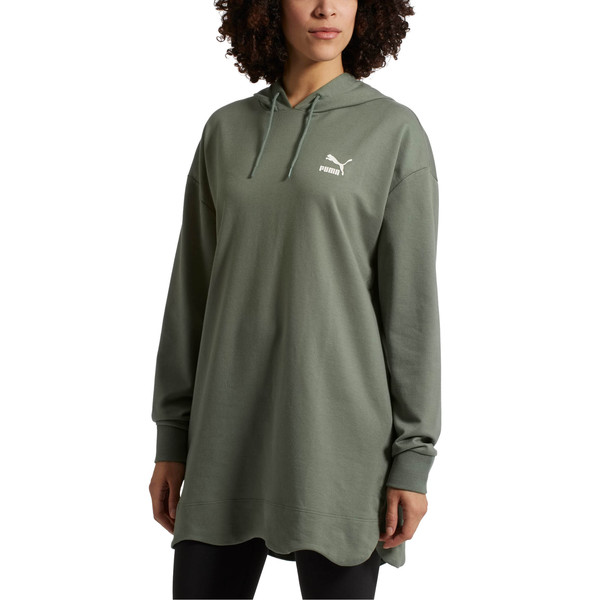 Scallop Elongated Women's Hoodie, 23, large