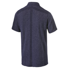 Thumbnail 2 of evoKNIT Men's Breakers Polo, Peacoat Heather, medium