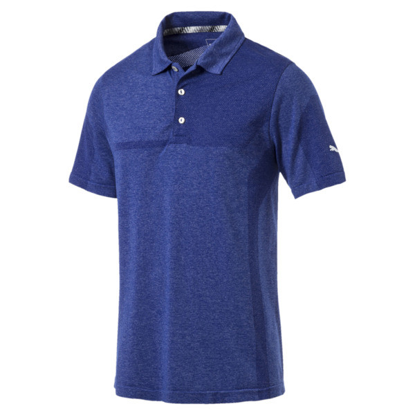 evoKNIT Men's Breakers Polo, Surf The Web Heather, large