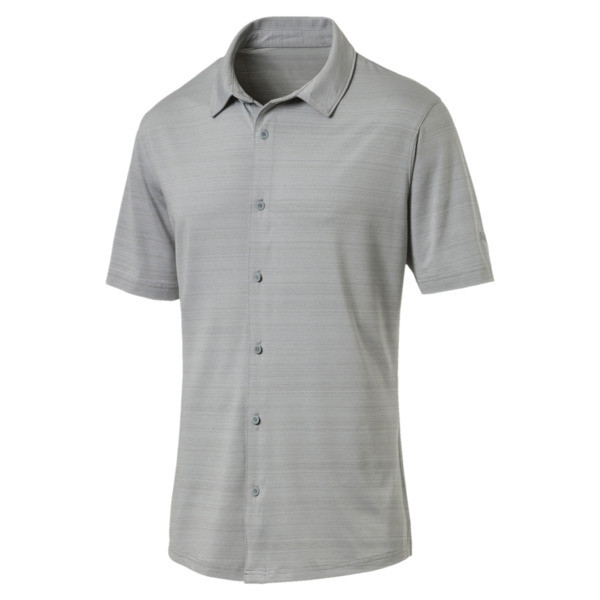 Breezer Short Sleeve Men's Golf Shirt, Quarry, large
