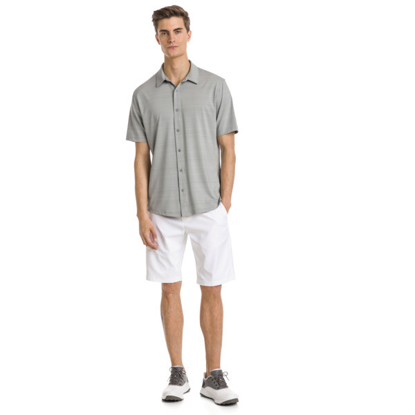 Breezer Short Sleeve Men's Golf Shirt, Quarry, large