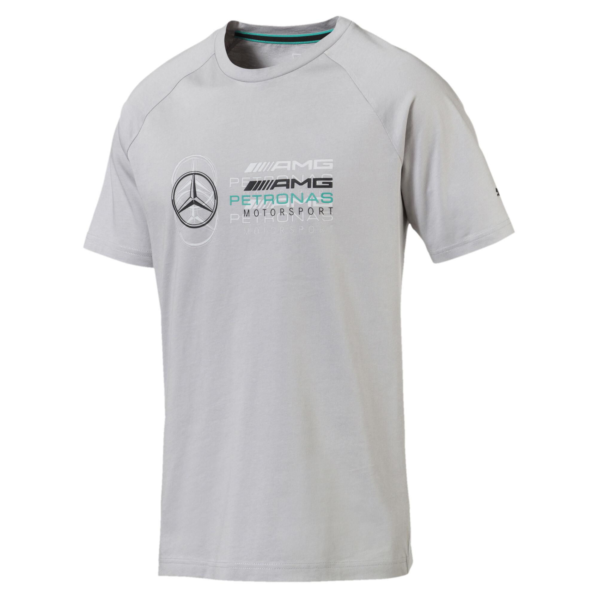 Image Puma MERCEDES AMG PETRONAS Men's Logo T-Shirt #4