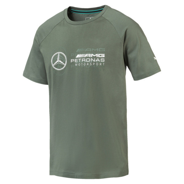 MERCEDES AMG PETRONAS Men's Logo T-Shirt, Laurel Wreath, large