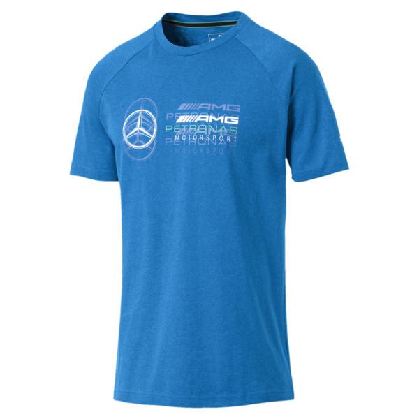 Mercedes AMG Petronas Men's Logo T-Shirt, Indigo Bunting Heather, large
