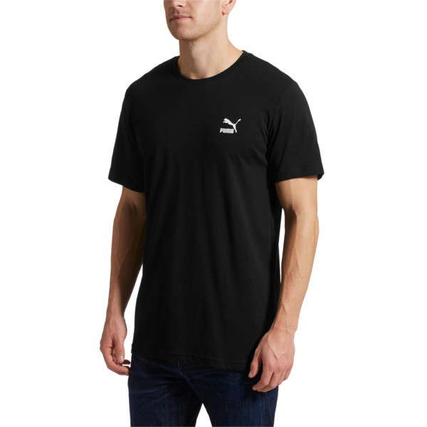 Graphic Downtown Label T-Shirt, Cotton Black, large