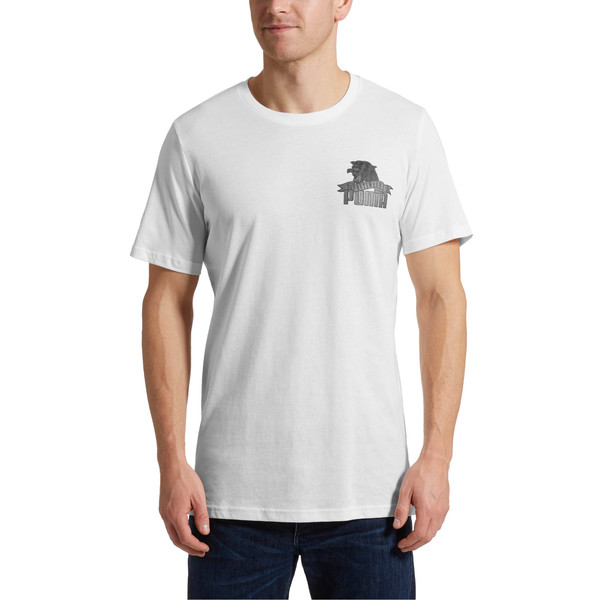 Graphic Downtown Flock Print T-Shirt, 02, large