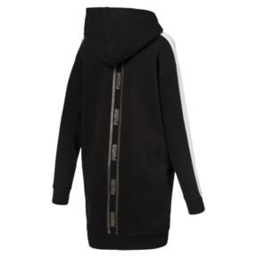 Thumbnail 2 of T7 Chains Hooded Women's Dress, Cotton Black, medium
