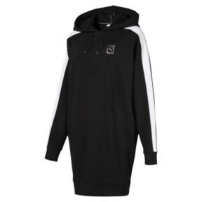 Thumbnail 1 of T7 Chains Hooded Women's Dress, Cotton Black, medium