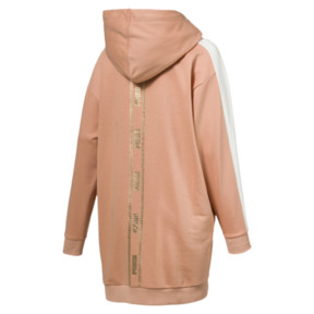 Thumbnail 4 of T7 Chains Hooded Women's Dress, Dusty Coral, medium