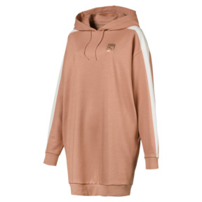 Thumbnail 1 of T7 Chains Hooded Women's Dress, Dusty Coral, medium