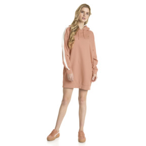 Thumbnail 2 of T7 Chains Hooded Women's Dress, Dusty Coral, medium