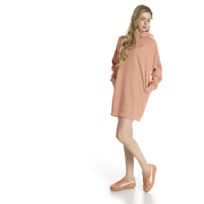 Thumbnail 5 of T7 Chains Hooded Women's Dress, Dusty Coral, medium