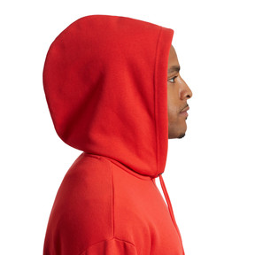 Thumbnail 3 of Men's Fleece Hoodie, High Risk Red-puma black, medium