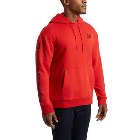Thumbnail 2 of Men's Fleece Hoodie, High Risk Red-puma black, medium