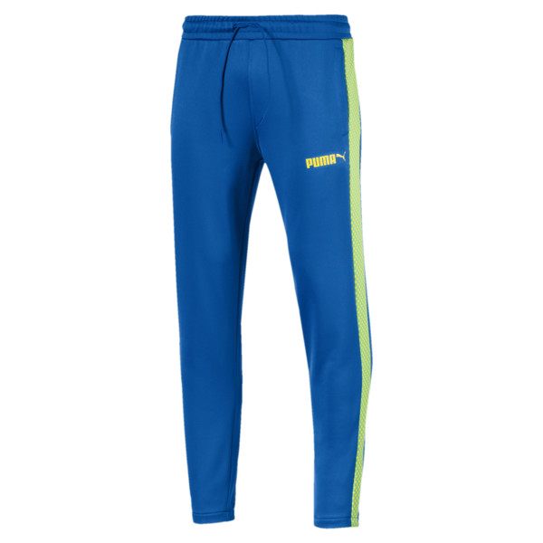 T7 Pop Men's Track Pants, Strong Blue, large