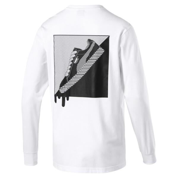T7 Pop Long Sleeve Men's Shirt, Puma White, large