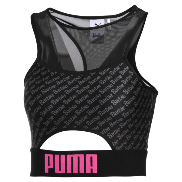 PUMA x BARBIE Women's Crop Top, Puma Black, large