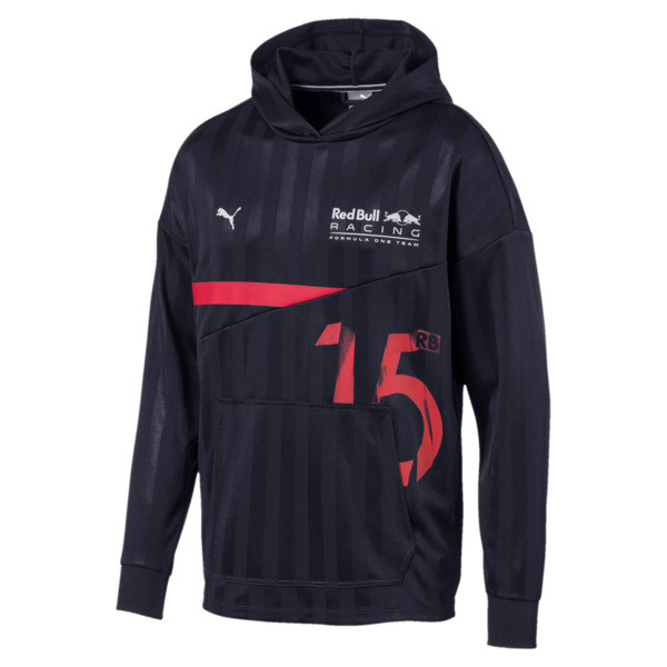 Red Bull Racing Lifestyle Men's Hooded Midlayer, NIGHT SKY, large