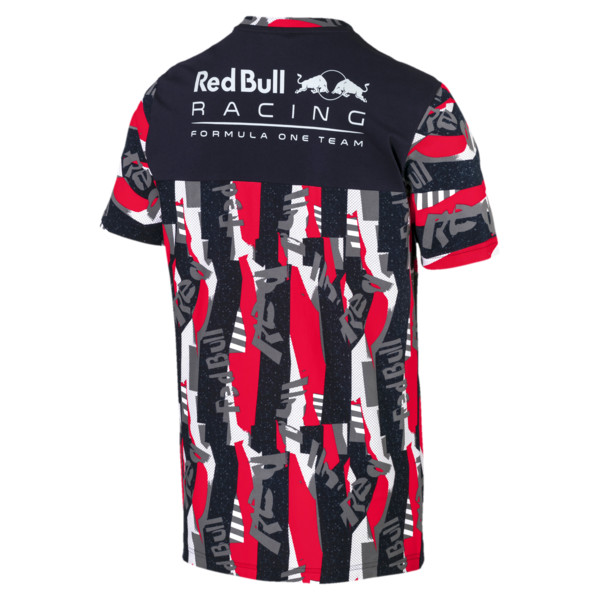 Red Bull Racing Lifestyle All-Over Printed Men's Tee, Chinese Red, large