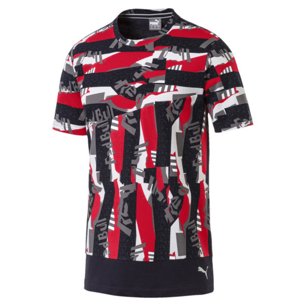 T-Shirt Red Bull Racing Lifestyle Allover-Print pour homme, Chinese Red, large