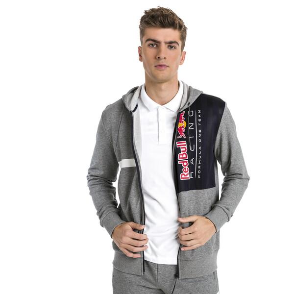 Red Bull Racing Hooded Sweat Jacket voor Heren, Grijs/Heide, Maat L | PUMA
