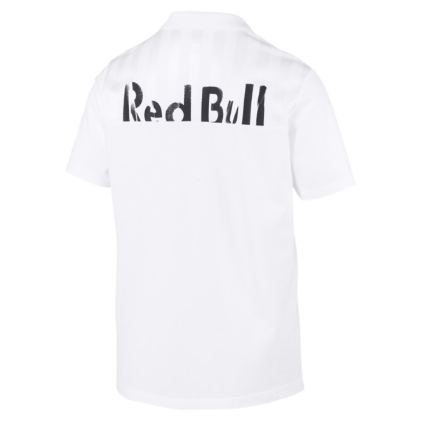 Red Bull Racing Short Sleeve Men's Polo Shirt, Puma White, large