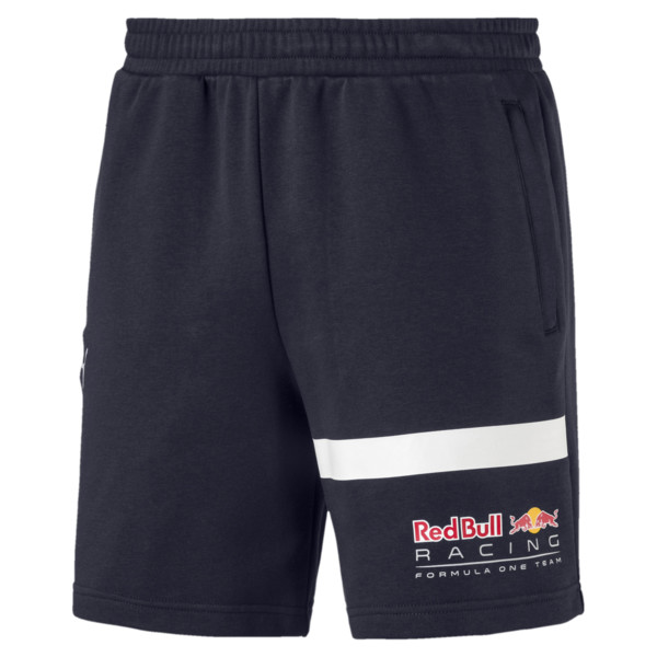 Red Bull Racing Logo Men's Sweat Shorts, NIGHT SKY, large