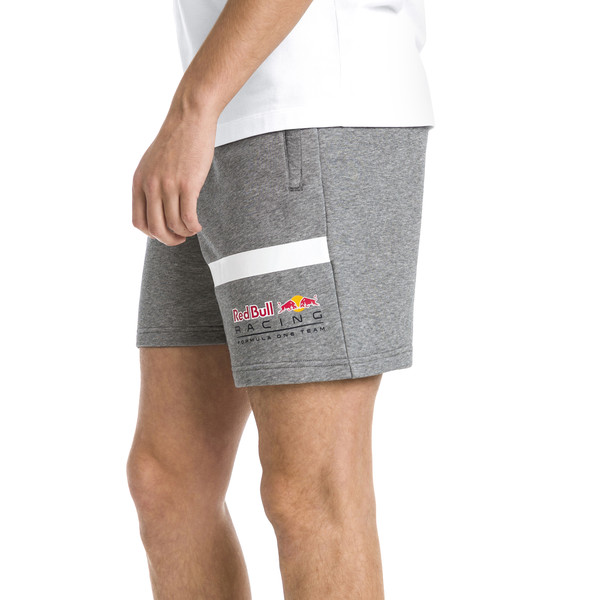Red Bull Racing Logo Men's Sweat Shorts, Medium Gray Heather, large