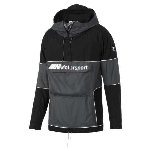 BMW Motorsport RCT Woven Hooded Men's Jacket, Puma Black, large