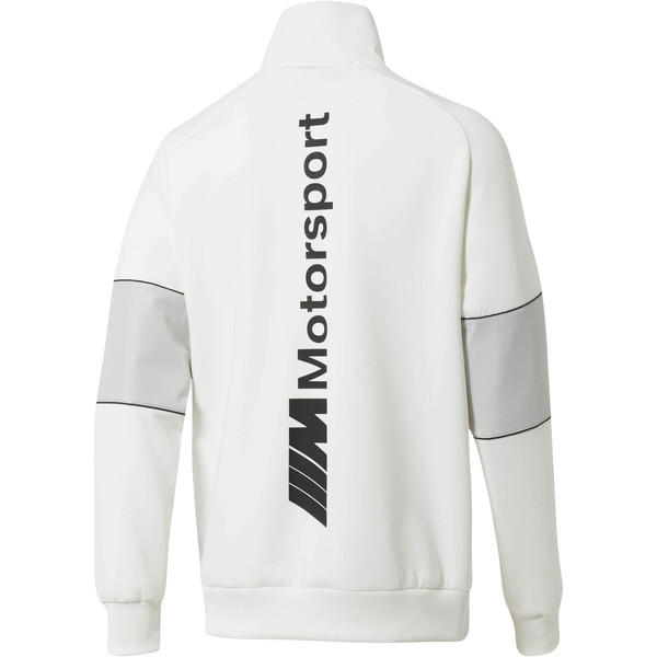 BMW M Motorsport Life Men's Half Zip Sweat Jacket, Puma White, large