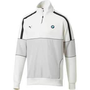Thumbnail 1 of BMW M Motorsport Life Men's Half Zip Sweat Jacket, Puma White, medium