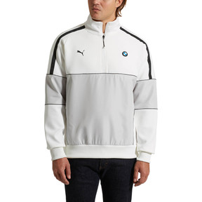 Thumbnail 2 of BMW M Motorsport Life Men's Half Zip Sweat Jacket, Puma White, medium