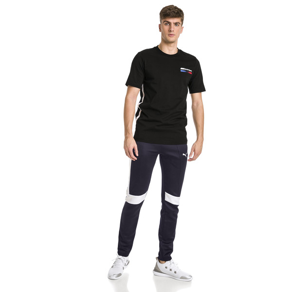 BMW M Motorsport Lifestyle Men's Graphic Tee, Puma Black, large