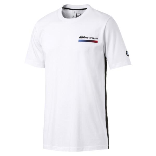 BMW M Motorsport Lifestyle Men's Graphic Tee, Puma White, large