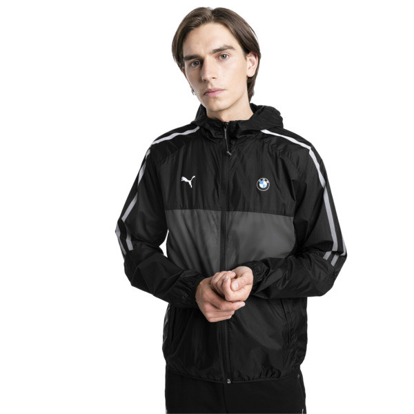 BMW M Motorsport T7 City Runner Men's Jacket, Puma Black, large