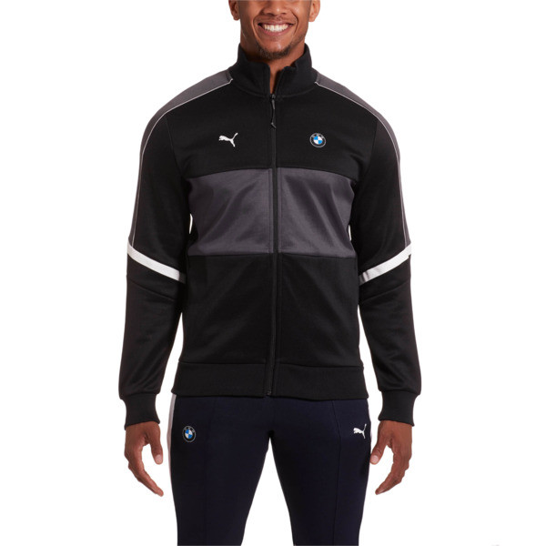 BMW MMS Men's T7 Track Jacket, Puma Black, large