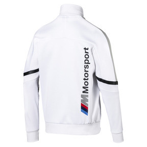 Thumbnail 2 of BMW M Motorsport T7 Men's Track Jacket, Puma White, medium