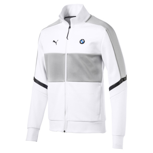 BMW M Motorsport T7 Men's Track Jacket, Puma White, large