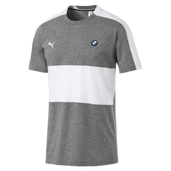 BMW M Motorsport Men's T7 Tee, Medium Gray Heather, large