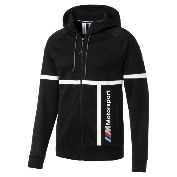 BMW M Motorsport Herren Kapuzen-Sweatjacke, Puma Black, large