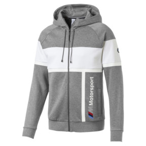 Thumbnail 1 of BMW MMS Men's Hooded Sweat Jacket, Medium Gray Heather, medium