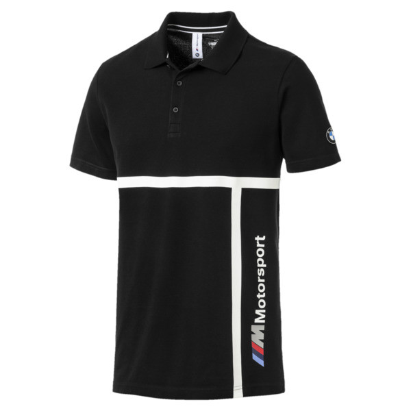 BMW Motorsport Men's Polo Shirt, Puma Black, large