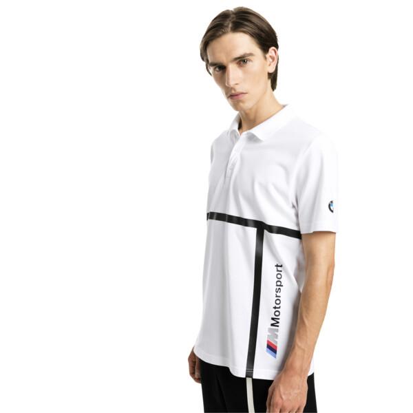 Męska koszulka polo BMW Motorsport, Puma White, obszerny