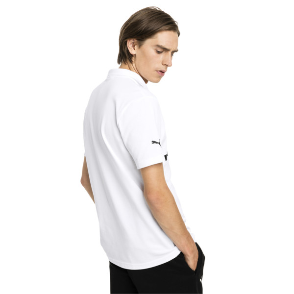 BMW M Motorsport Herren Polo, Puma White, large