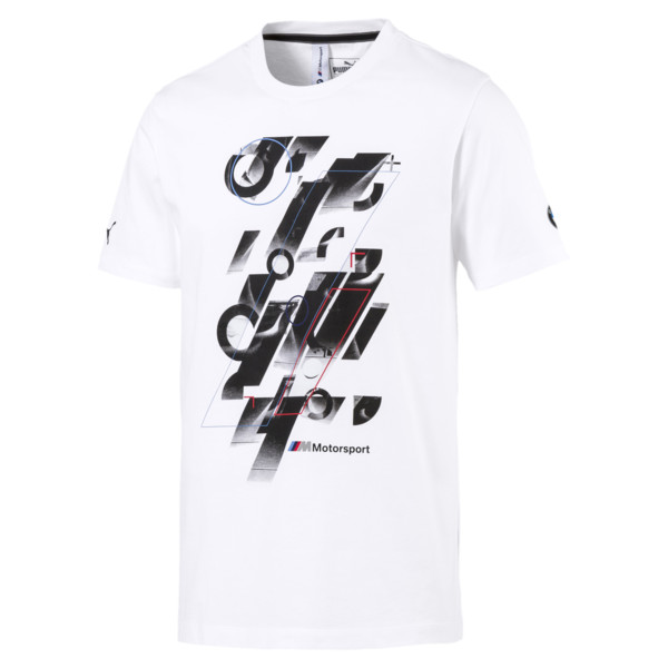 BMW M Motorsport Men's Graphic Tee, Puma White, large
