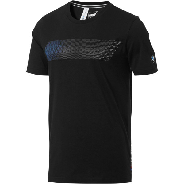 BMW M Motorsport Men's Logo Tee +, Puma Black, large